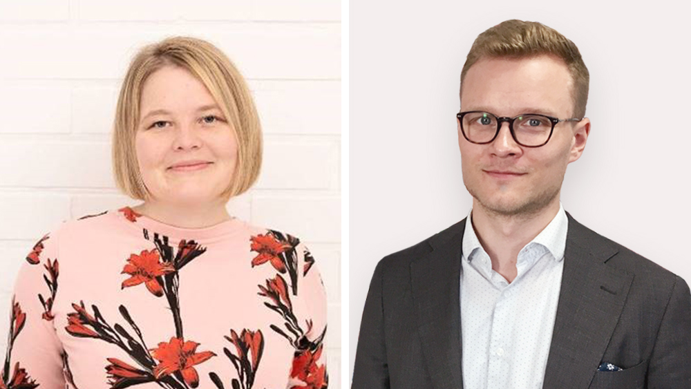 Jenny Hasu and Arttu Karila appointed Special Advisers to Minister of Economic Affairs Kulmuni